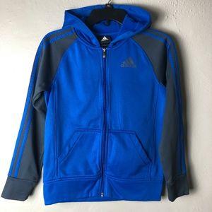 Adidas Climawarm Full-Zip Hoodie Youth Sz M 10-12